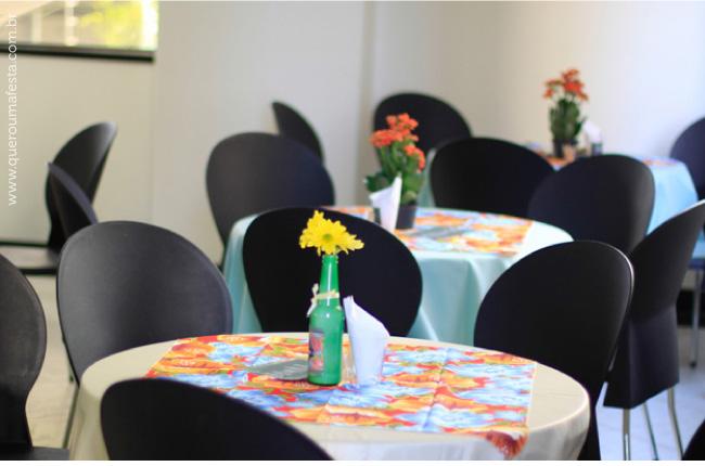 decoração de mesa para Chá Bar