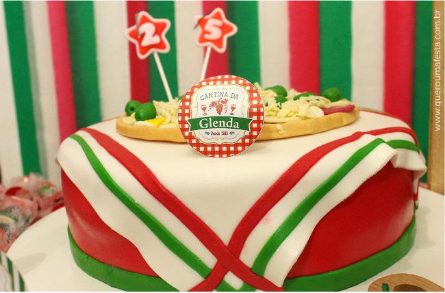 Bolo tema Festa Italiana