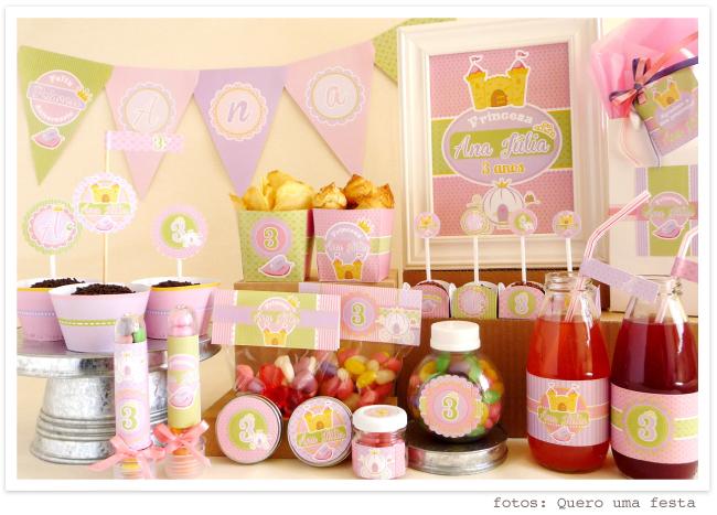 kit princesa aniversario