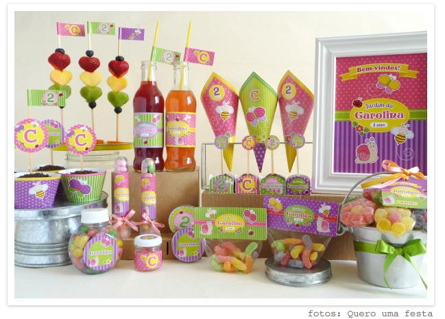 kit festa jardim colorido