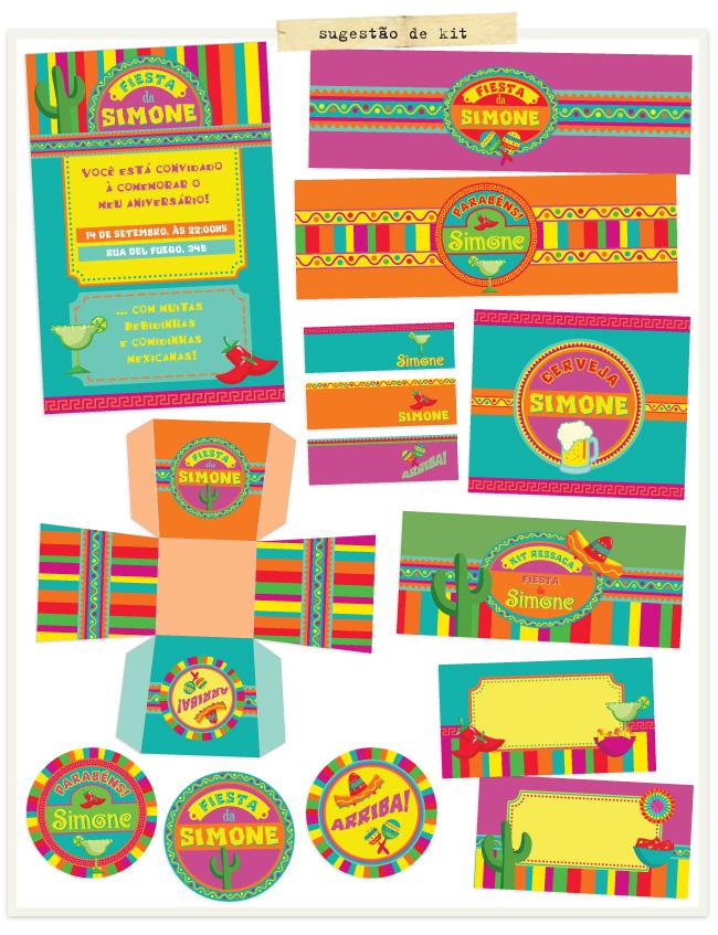 kit festa mexicana para imprimir