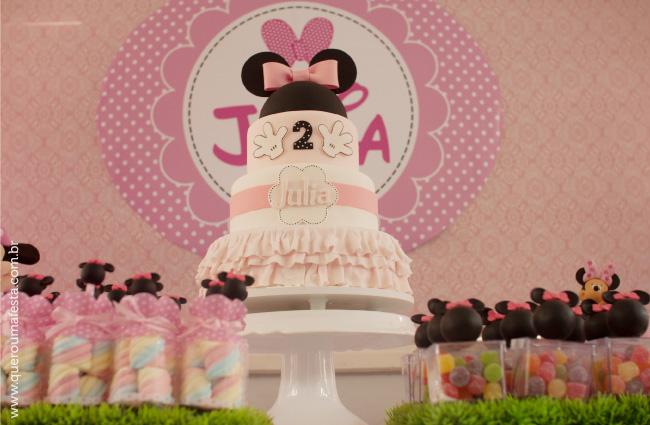 festa de aniversário tema Minnie