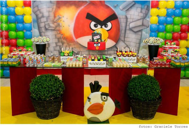 Festa Angry Birds - kit de enfeites personalizados