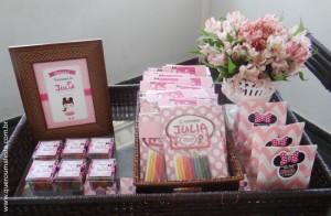 Kit Festa Minnie rosa para imprimir
