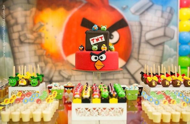 Festa Angry Birds - mesa de aniversario