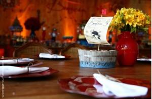 Centro de mesa para Festa Pirata