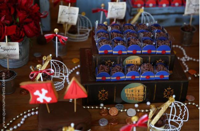enfeites personalziados de aniversário Festa Pirata