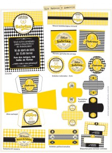 Kit Festa Boteco Amarelo
