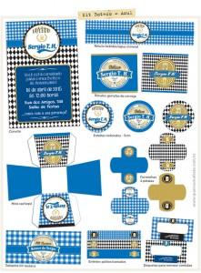 Kit Festa Boteco Azul