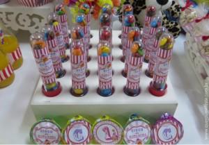 tubetes personalizados festa circo - kit festa circo cor de rosa