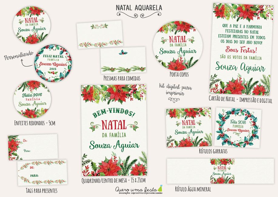 kit digital de natal, enfeites de natal para imprimir, tags de natal, rótulos de natal pdf
