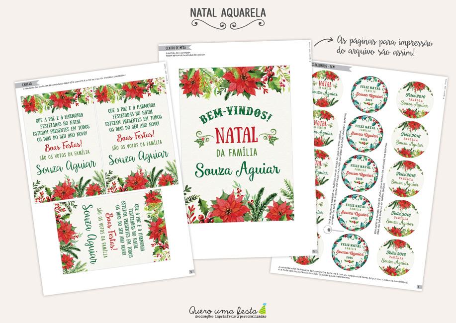 enfeites de natal para imprimir, rótulos floridos para natal, kit de natal para imprimir sem papai noel