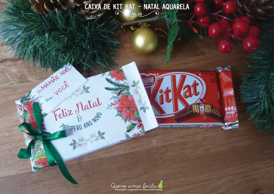 caixa de kit kat decorada - enfeites para kit kat de natal, kit digital caixa de kitkat, presente de natal bonito e barato
