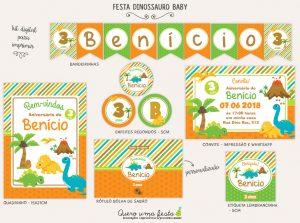 Kit Festa Dinossauro Baby