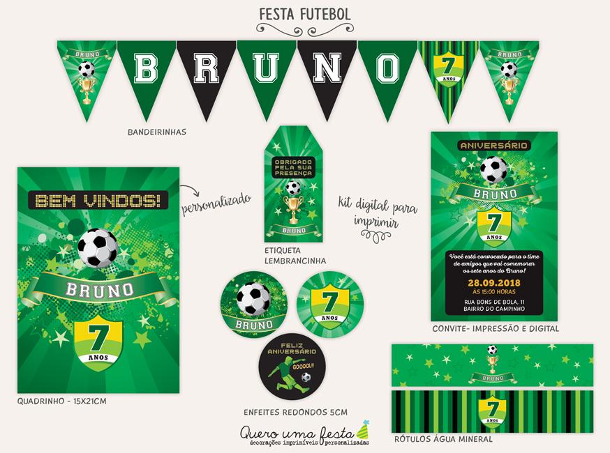 kit festa futebol para imprimir
