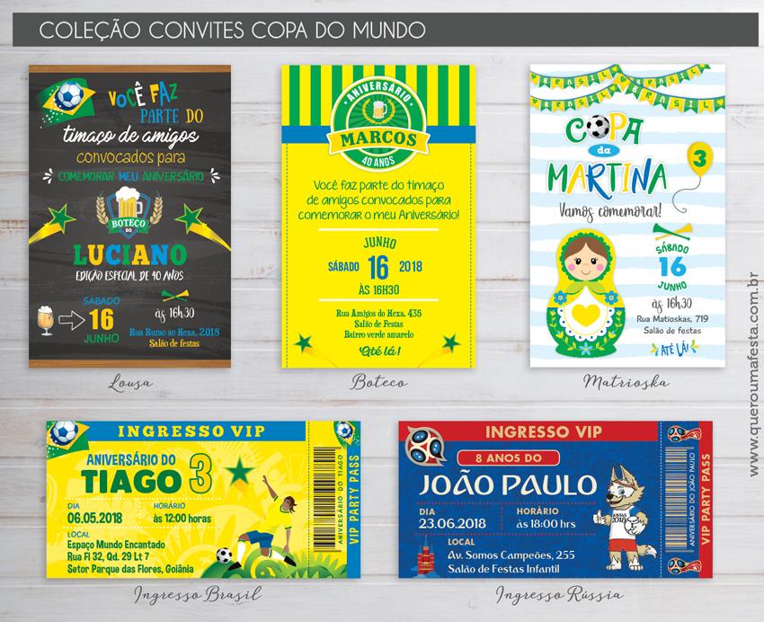 Convites Copa 2018