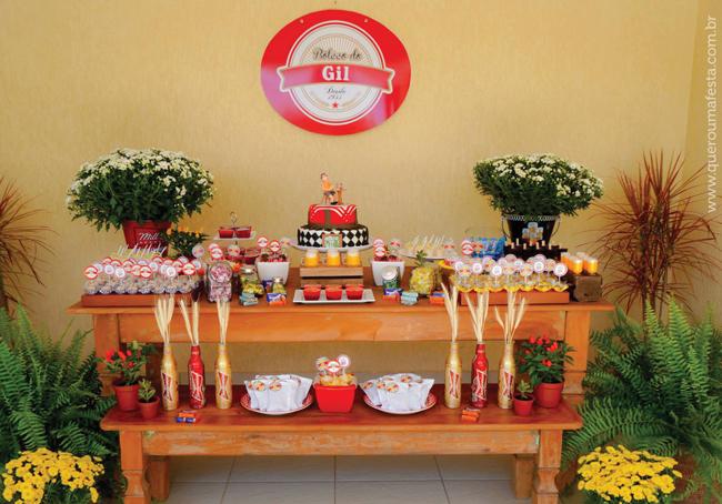 aniversário festa boteco, como fazer uma festa boteco, decoração festa boteco