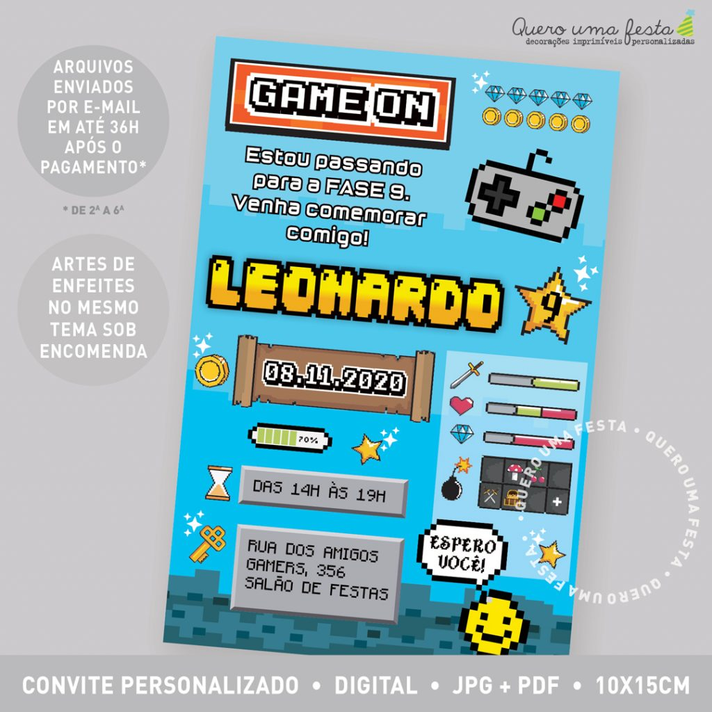 convite Video Game, convite aniversário Video Game, convite digital Video Game, convite Festa tema Games, convite tema Video Game, convite festa jogar Video Game, convite online Video Game, convite festa Video Game para imprimir, molde convite Video Game, convite Video Game divertido, convite digital Video Game, convite Games, Aniversário Video Game, convite infantil video game, convite festa video game celular, enfeites festa video game